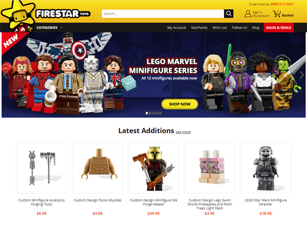 Firestar Toys - Bespoke Ecommerce Website