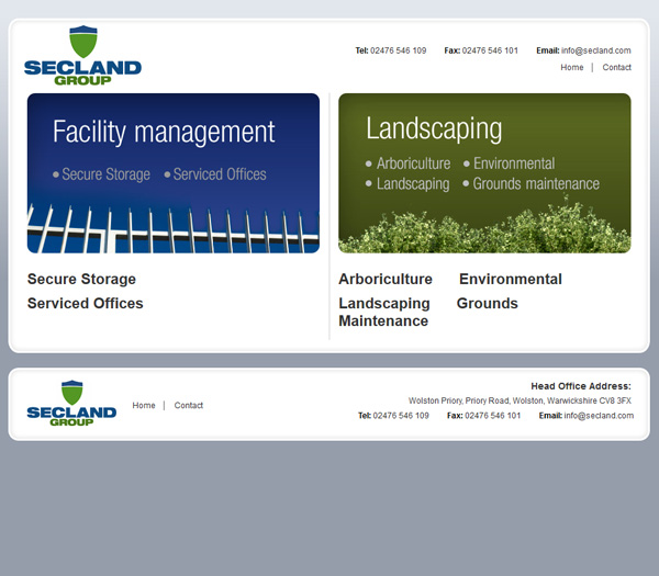 Secland Group - Brochure Website
