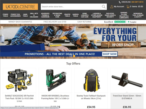 UK Tool Centre - Bespoke Ecommerce Website