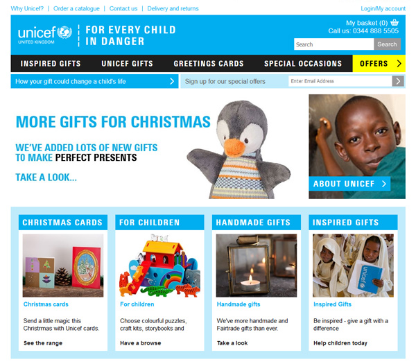UNICEF Shop - Ecommerce Website